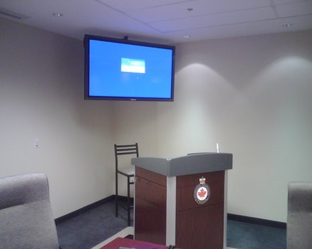 60 inch LCD Display mounted in executive briefing room