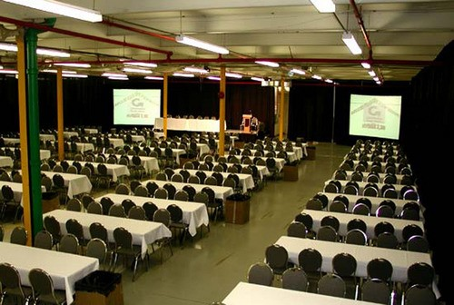 Large venue rental with dual projection