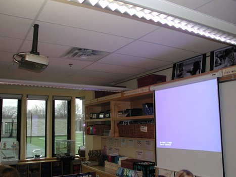 Junior School classroom with ceiling mounted projector