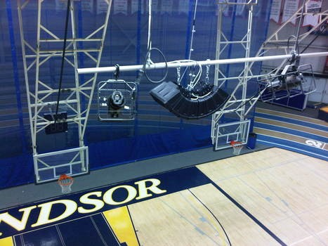 University of Windsor - TOA HX-5 small line array speakers