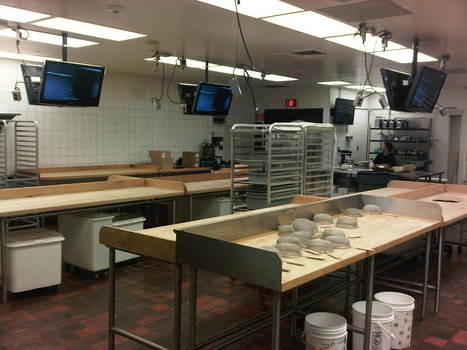 LCD Flat Screen Instillation for displaying food preparation in a College classroom