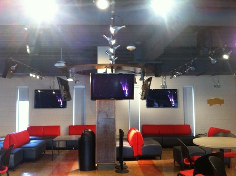 Multiple LCD  display installation at Seneca College Campus pub