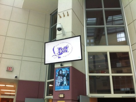 Digital signage at high school