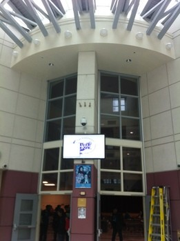 Digital signage at high school 2
