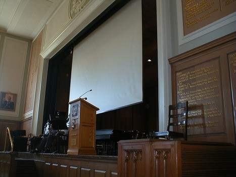 Large Venue electric theatre screen